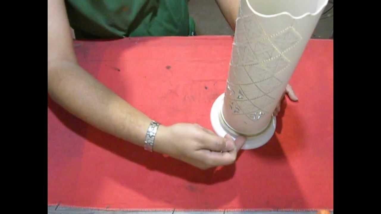 mobiliario de jardim em pvc: fazer uma base simples e fácil para a luminária de PVC – YouTube