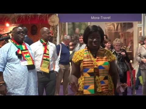 Ghana's Minister of Tourism @Vakantebeurs 2015