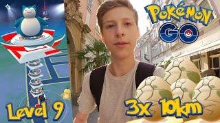 Level 9 Arena angreifen + 3x 10km Ei öffnen! Sleima bekommen! • Pokemon GO deutsch