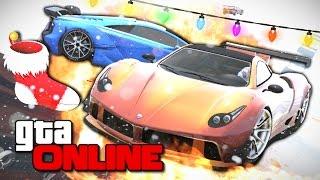 НОВОГОДНИЕ ГОНКИ СО СНЕГОМ В GTA 5 ONLINE #173