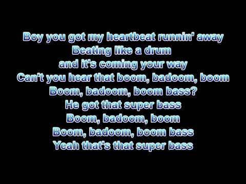 nicki manaj super bass lyrics
