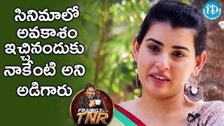 They Directly Asked Me To Do Some Favour - Archana || Frankly With TNR || Talking Movies With iDream