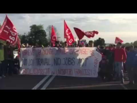 14/06/2016 Sciopero interporto bologna in solidarietà allo sciopero in Francia!