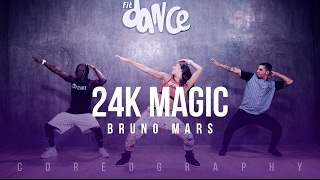 Download video 24K Magic - Bruno Mars - Choreography - FitDance Life