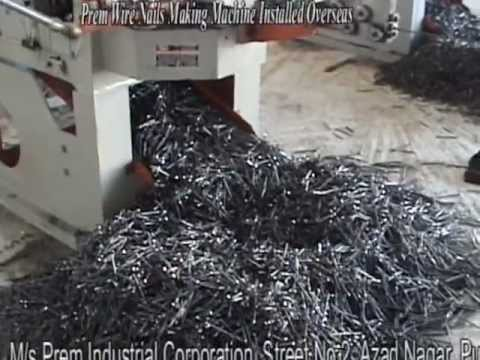 Prem Wire Nails Making Machine Installed Overseas Youtube