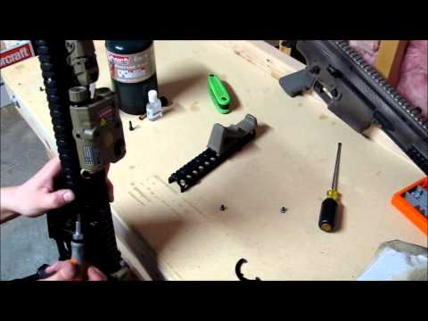 How to install a madbull MK18 ris.