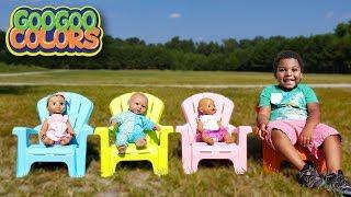 KIDS PLAY HIDE N SEEK AT PLAYGROUND! Learn Colors with Goo Goo Gaga