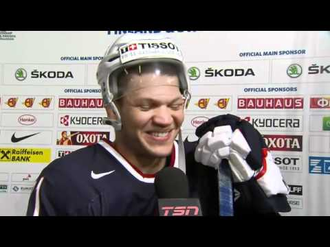 Jack Johnson, Kyle Okposo and Justin Faulk talk about Team USA's 7-2 victory ...