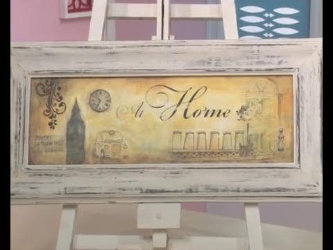 Transferencia de imagenes sobre madera - Pinturas 3D - Decapado - Cuadro Home Pato Mariani