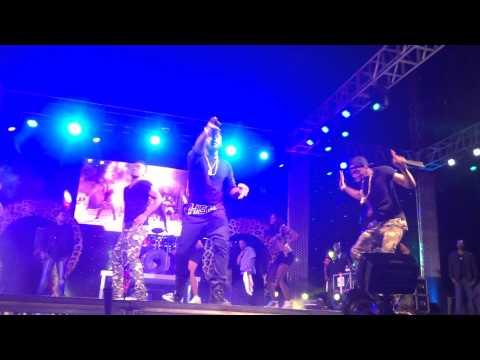 Diamond & Davido perform 'Number One' at 2014 Serengeti Fiesta Concert