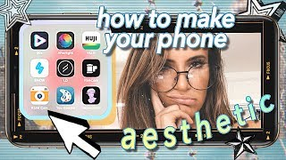 12 Aesthetic iPhone Apps You NEED! what's on my iphone (apps, background, case)