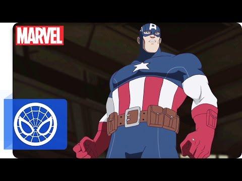 Der ultimative Spider-Man - Clip: Training mit Captain America   Marvel HQ Deutschland
