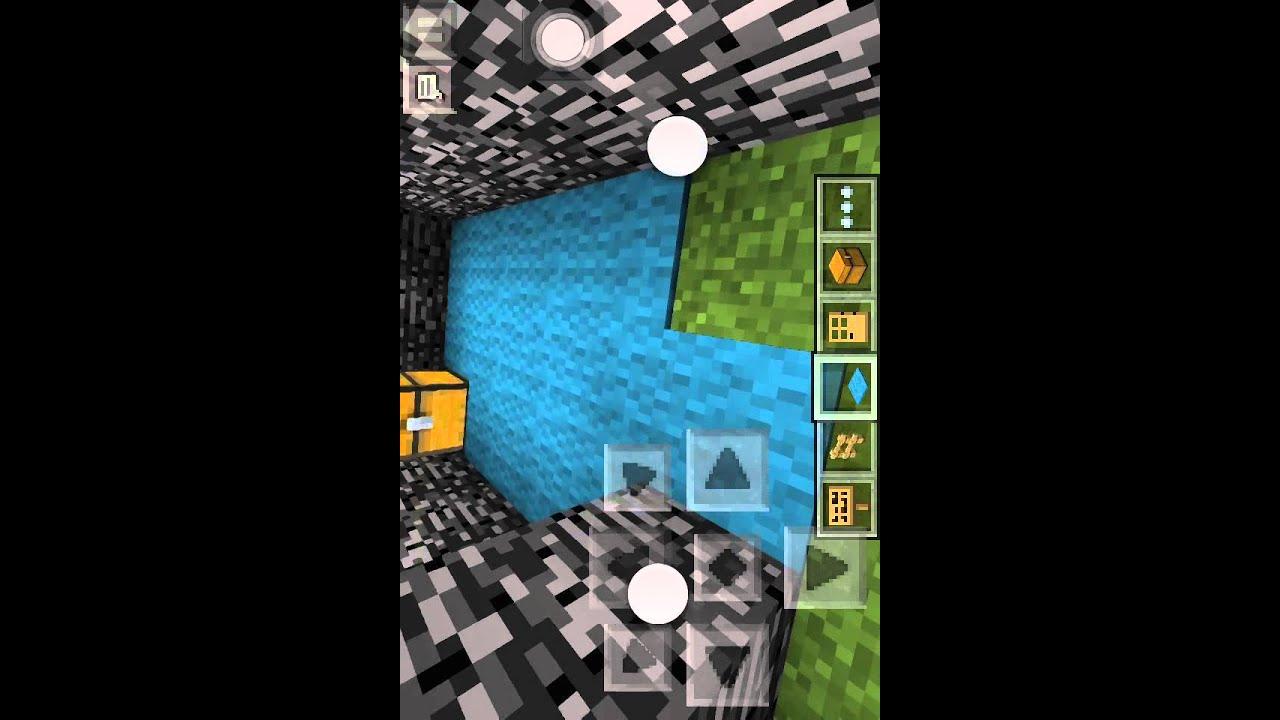 """Как сделать """"невидимую дверь"""" в minecraft PE - YouTube"""