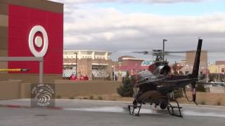 Bernalillo County Sheriff's Department Helicopter Landing with Santa