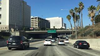 Driving on 101Hollywood Freeway Los Angeles California - Free Stock Footage