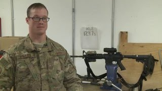 Airman keeps weapons at Bagram at the ready