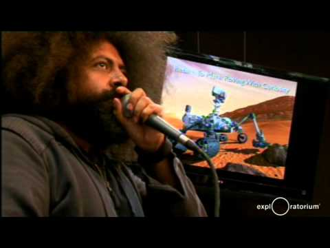 Reggie Watts performs at the Exploratorium museum