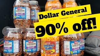 Run!! 90% Off Food! Dollar General! Full Cart of Snacks!