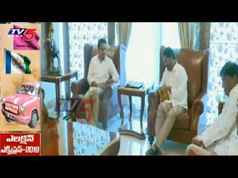 KTR Reaches Lotus Pond to Meet YS Jagan Over Federal Front | TV5 News