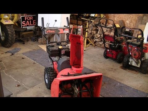 Dismantling a Blown 8hp Tecumseh from an Ariens Snowblower Part 1/3