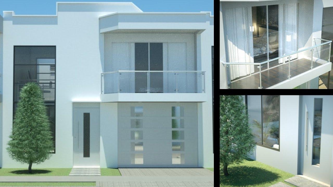 Casa moderna minimalista dise o de interiores prado verde for Construcciones minimalistas