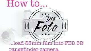 How to load 35mm Film into a FED 5B rangefinder camera (analog photography) #filmisnotdead