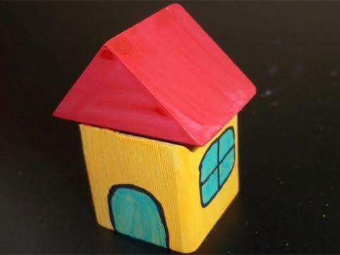 Easy Wooden Kids Crafts: Block House