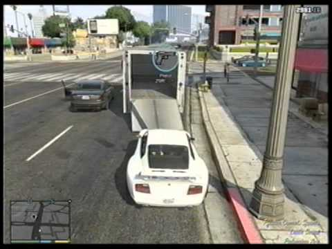 Tow Truck Location Gta 5 Online Gta 5 Towing a Big Truck With