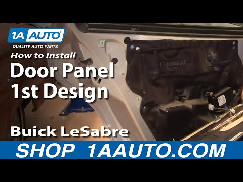How To Install Remove Rear Door Panel 1st Design Buick LeSabre 00-05 1AAuto.com