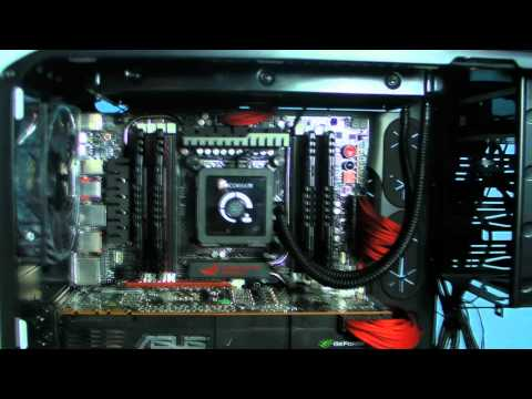 Custom Corsair 600T Build Video 3930K Rampage IV Extreme Nvidia GTX580