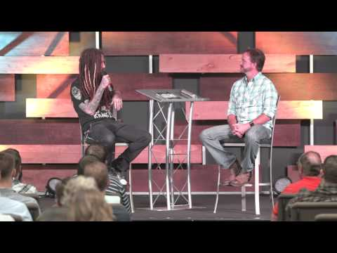 Brian Head Welch (of Korn) and Tim Harlow at Dave Ramsey's Lampo Group