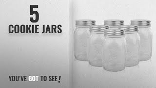 Top 10 Cookie Jars [2018]: Golden Spoon Mason Jars, With Regular Lids, and Lids for Drinking,