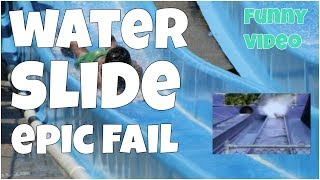 Water slide epic fail 🔸 7 second of happiness FUNNY Video 😂#387