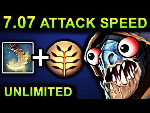 UNLIMITED ATTACK SPEED SLARK - DOTA 2 PATCH 7.07 NEW META PRO GAMEPLAY