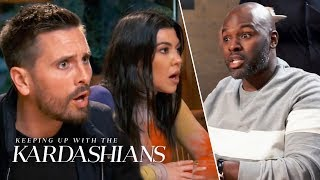 Scott Disick Blows Up At Corey Gamble For Saying He'd Whip Penelope's A-- | KUWTK | E!