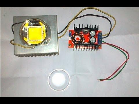 LED RGB 100W (3 in serie) alimentati con 3 LED-DRIVER-DIMMER на tubethe.com