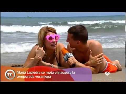 María Lapiedra en la playita, Tal cual lo contamos, Antena 3
