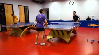 Training with Coach Yi: Backhand counter with forehand power loop