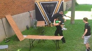 2/3 Tables Match - Eric D (c) VS Swede Savard {CHW Championship} Backyard Wrestling