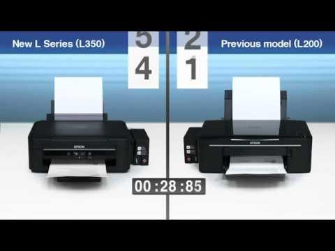Сравнение скорости печати принтера Epson L350 и Epson L200