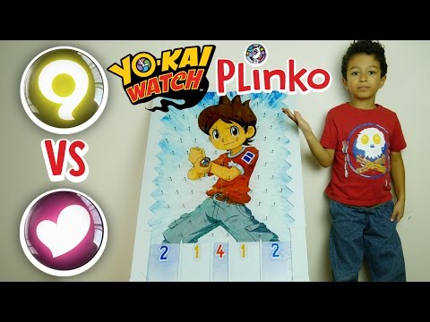 Yo-Kai Watch PLINKO GAME! Mysterious VS Charming! YoKai Medallium Battle