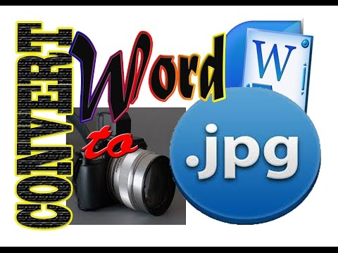Converting word document to jpeg