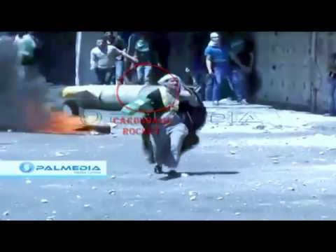 Palestine Vs Israel : Cardboard Rocket Vs Real Gun | Raw Footage