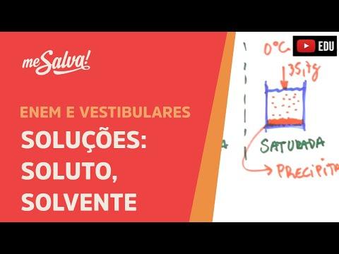 Extensivo de Química - SOL01 - Soluções: Soluto, solvente e classificação de soluções