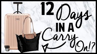 12 Days in Europe in a Carry-On?! // Packing Challenge!