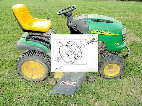 Replacing Wheel BUSHINGS on a Riding Mower  - John Deere