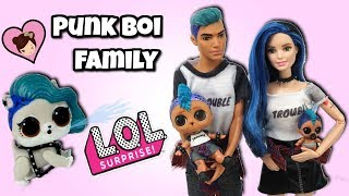 LOL Punk Boi Family Adopts a New Pet - Custom  Barbie DIY  LOL Surprise PET Series 4