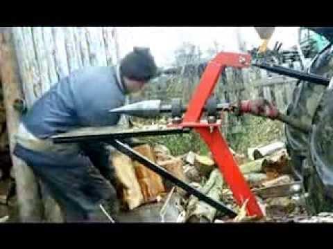 Łuparka rębak świder śruba do ciągnika