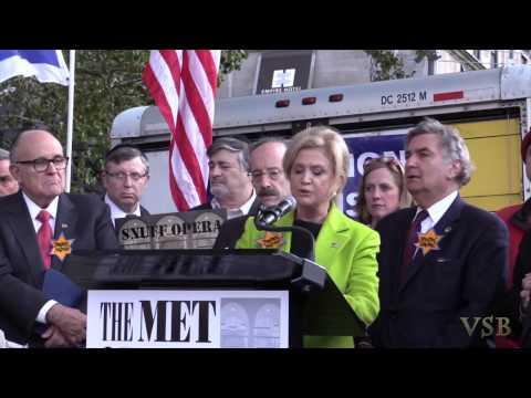 Congresswoman Carolyn Maloney at Klinghoffer Protest