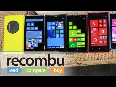 Nokia Lumia 1020 vs Lumia 925. 920. 820. 720. 620 and 520
